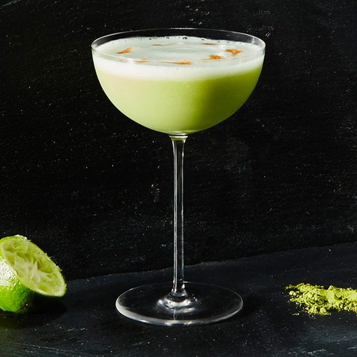 Matcha Pisco Sour Cocktail